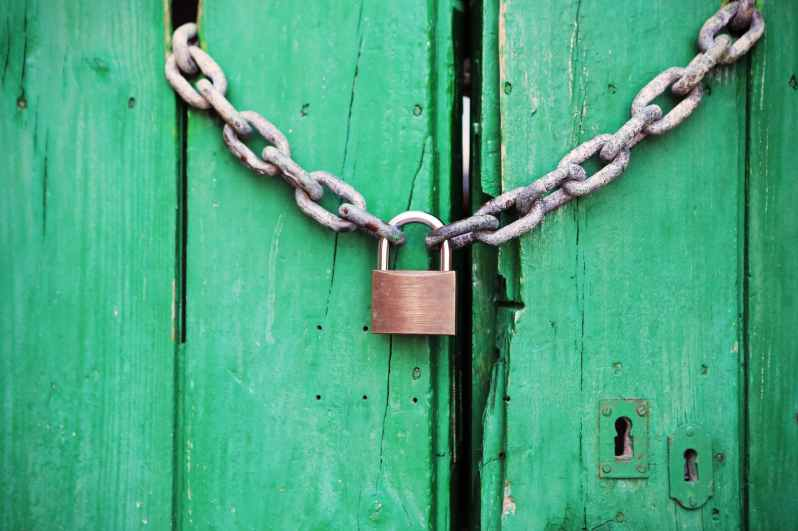 door green closed lock