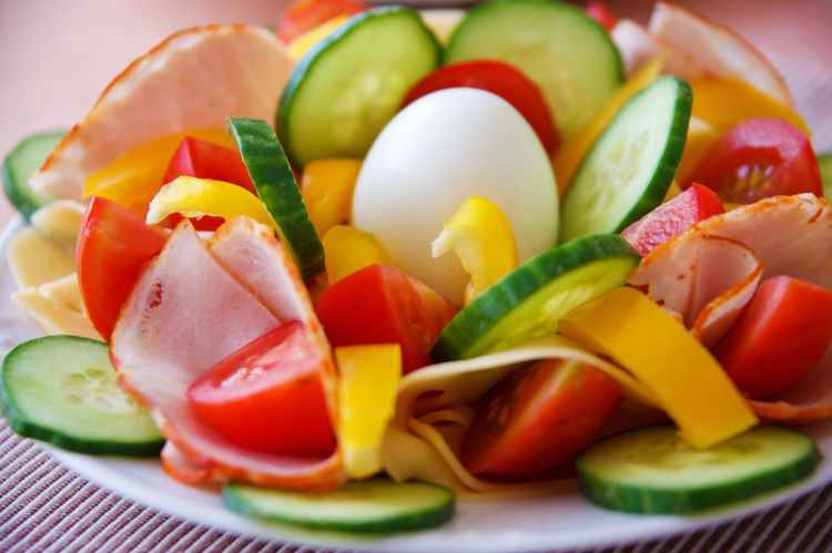 food salad healthy vegetables