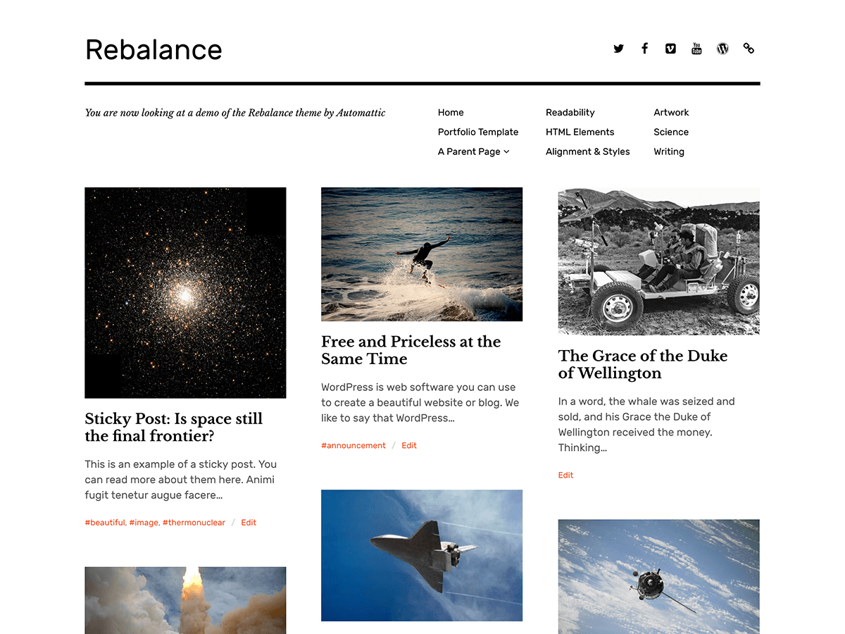 Best Wordpress Themes: Rebalance